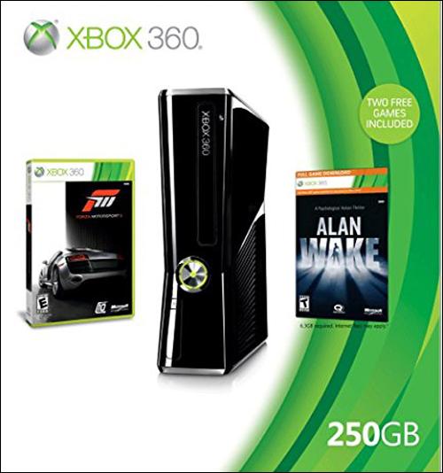 Microsoft Xbox 360 Slim 250GB 2010 Holiday Bundle