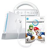 Nintendo Wii Mario Kart Bundle White