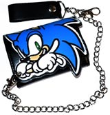Sonic the Hedgehog Sonic on Black Chain Wallet