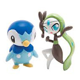 Pokemon Piplup Vs. Meloetta PVC Battling Figures