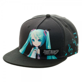 Hatsune Miku Black Snapback Hat