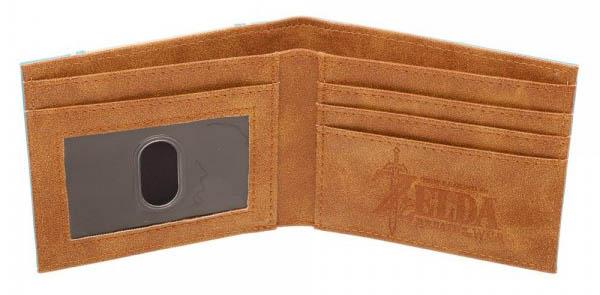 Zelda Breath Of The Wild Leather Bi Fold Wallet Open