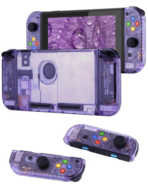 Nintendo Switch Housing Shell Replacement Service Clear Purple