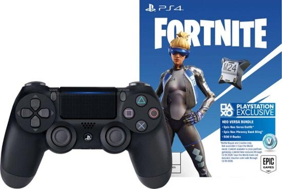 PS4 Fortnite Neo Versa Bundle with DualShock 4 Wireless Controller Jet Black additional image