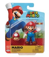 World of Nintendo Mario with Super Mushroom 4 Inch Action Figure