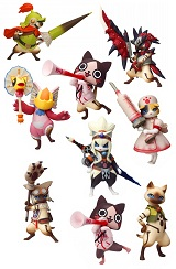 Monster Hunter Otomo Airou Trading Figure