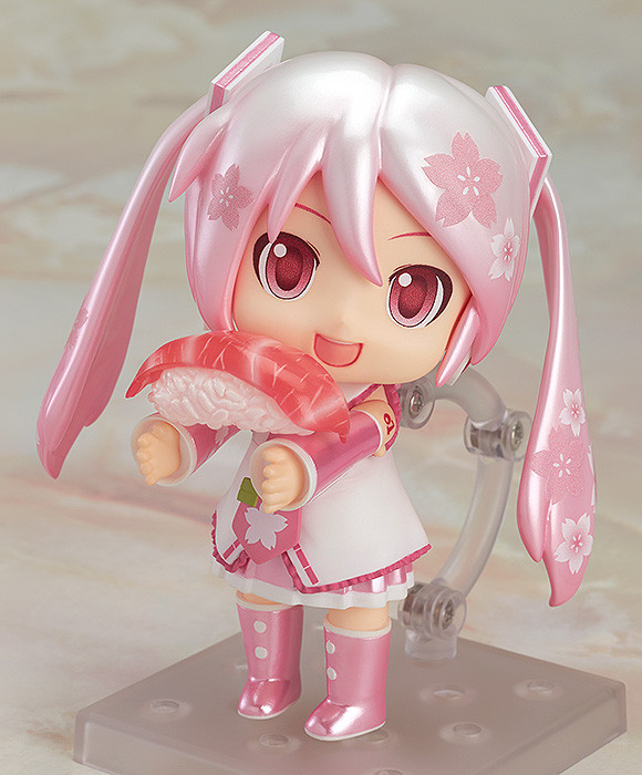 Character Vocal Series 01 Sakura Mikudayo Nendoroid with sushi