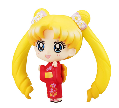 Sailor Moon Petit Chara Tsukino Usagi Yukata Version 2 Inch Figure