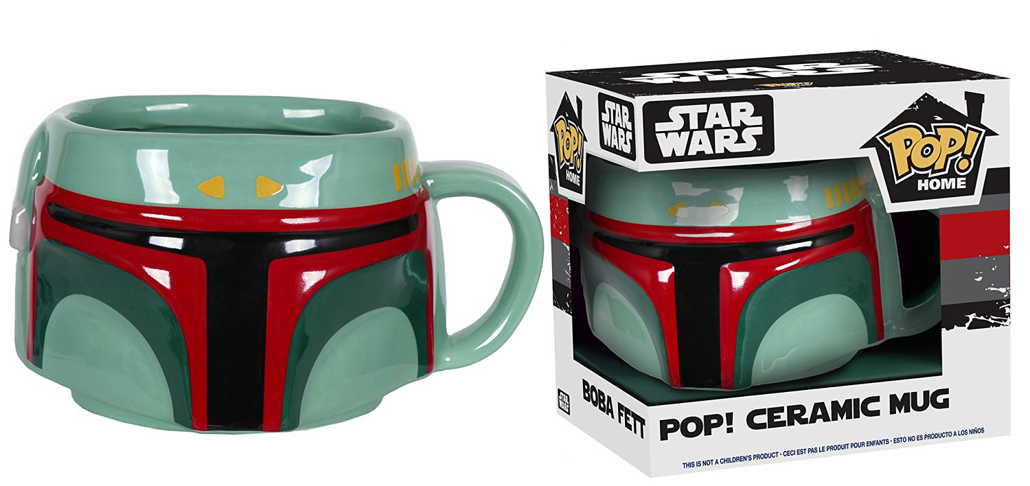Home Pop Ceramic Boba Fett Star Wars 16oz Mug 8OPkNwn0X