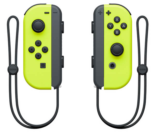 Nintendo Switch Left and Right Neon Yellow Joy-Con Controllers