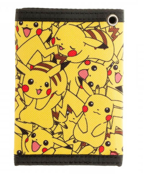 Pokemon Pikachu Velcro Tri Fold Wallet Back
