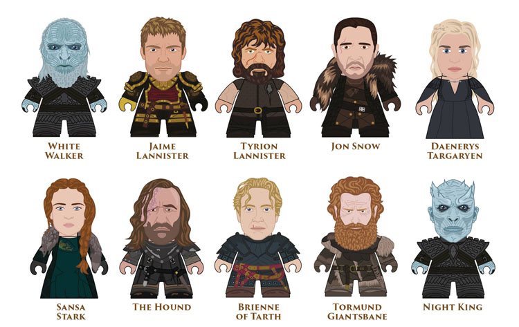 All of the Potential Options of the Game of Thrones Winter is Here Titans Mini-Figures