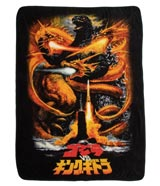 Godzilla vs. King Ghidorah Fleece Throw