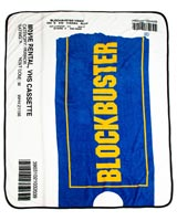 Blockbuster VHS Rental Case Fleece Throw