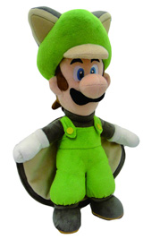 Nintendo Flying Squirrel Luigi 15 Inch Plush