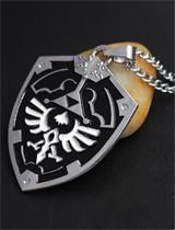 Legend of Zelda Triforce Shield Necklace