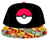 Pokemon Pokeball Sublimated Bill Youth Snapback