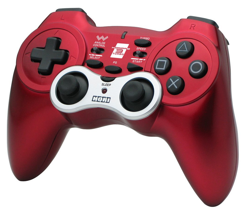 PS3 Hori Pad 3 Wireless Turbo Controller Red