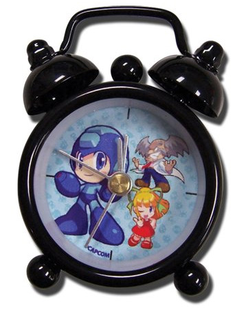 Mega Man Powered Up Group Mini Desk Clock