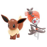 Pokemon Eevee Vs Meloetta PVC Battling Figures