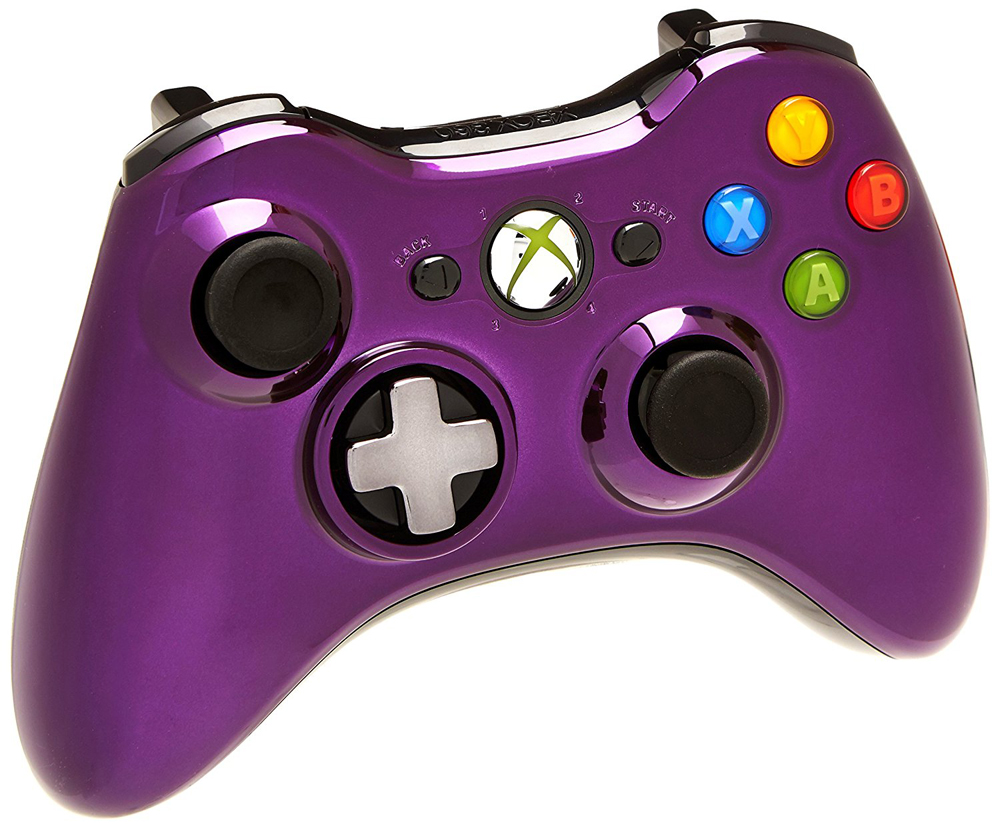 Xbox 360 Purple Chrome Wireless Controller