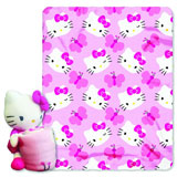 Hello Kitty Hugger Plush with Fleece Throw
