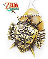 Legend of Zelda Hylian Shield with Sword Arrows Necklace