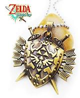 Legend of Zelda Hylian Shield with Sword Arrows Necklace