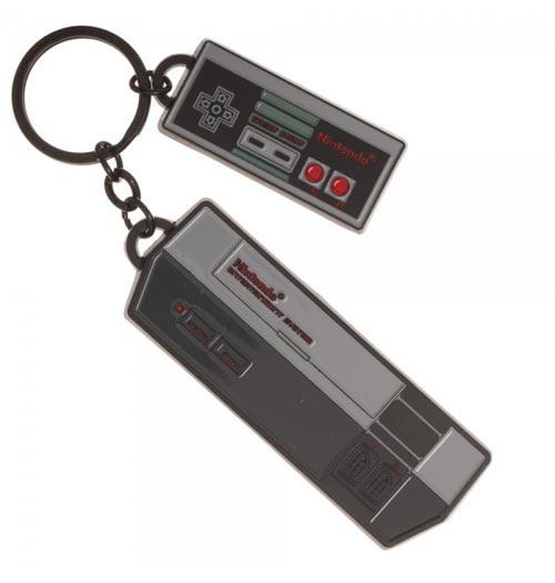 Nintendo NES Console & Controller Keychain