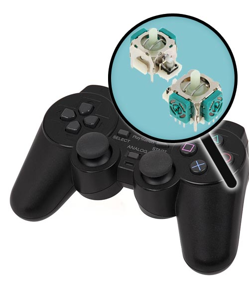 PlayStation 2 Repairs: Controller Analog Joysticks Replacement Service