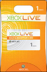 Xbox 360 Live 1 Month Gold Subscription Card