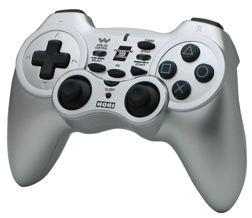 PS3 Hori Pad 3 Wireless Turbo Controller Silver