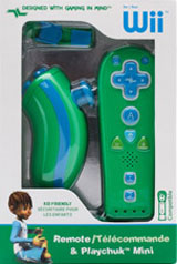Nintendo Wii Green Kid Friendly Remote & Playchuk Mini