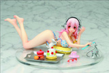 Super Sonico PVC Figure: Sweets and Bikini Version
