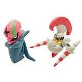 Pokemon Escavalier Vs Accelgor  PVC Battling Figures