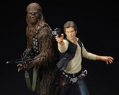 Star Wars Han Solo & Chewbacca ARTFX+ Statue