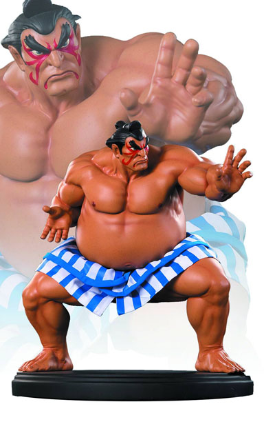Street Fighter E Honda Statue