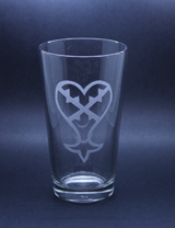 Arts & Crafts: Kingdom Hearts Heartless Logo Custom-made 16oz Glass