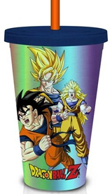 Dragon Ball Z Holographic Super Saiyan 16oz Carnival Cup