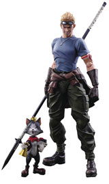 Final Fantasy AC VII Cid Highwind & Cait Sith Play Arts Kai Figure