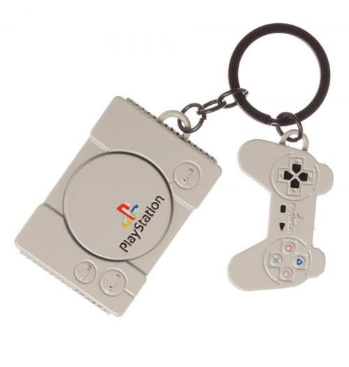 Sony Playstation Console & Controller Keychain