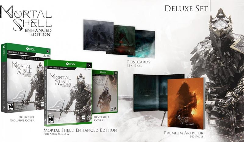 Xbox Series X Mortal Shell Enhanced Edition Deluxe Set all items