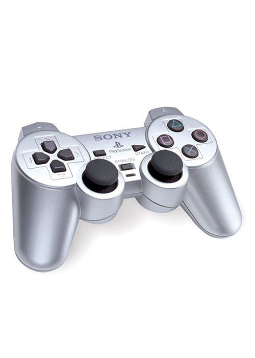 PS2 DualShock 2 Controller Satin Silver By Sony