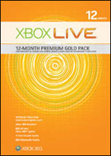 Xbox 360 Live 12 Month Premium Gold Pack by Microsoft