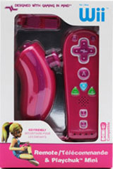 Nintendo Wii Pink Kid Friendly Remote & Playchuk Mini