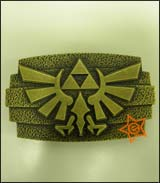Legend of Zelda Twilight Princess Hammered Logo Belt Buckle