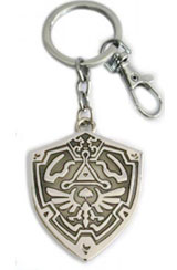 Legend of Zelda: Hylian Shield Silver Keychain