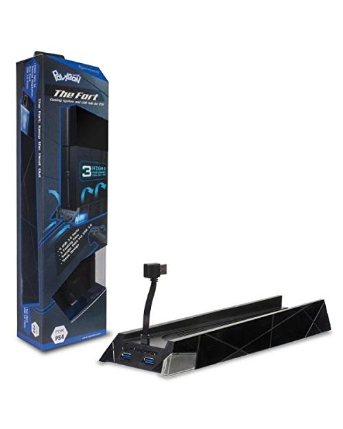 PlayStation 4 Polygon The Fort Cooling Stand 4 Port USB 3.0 Hub