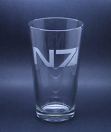 Arts & Crafts: Mass Effect N7 Logo Custom-made 16oz Glass