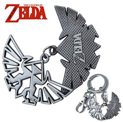 Legend of Zelda Dual Triforce Logo Keychain